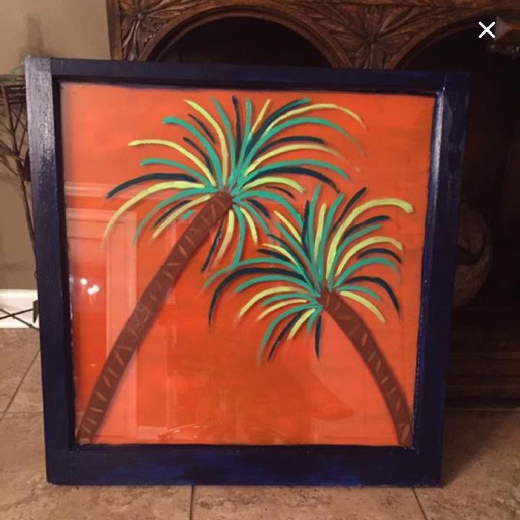 "Antique window art ""Hot Tropix"""