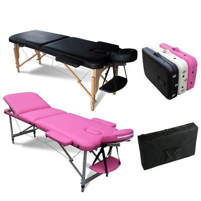 MASSAGE table with professional stand lamp