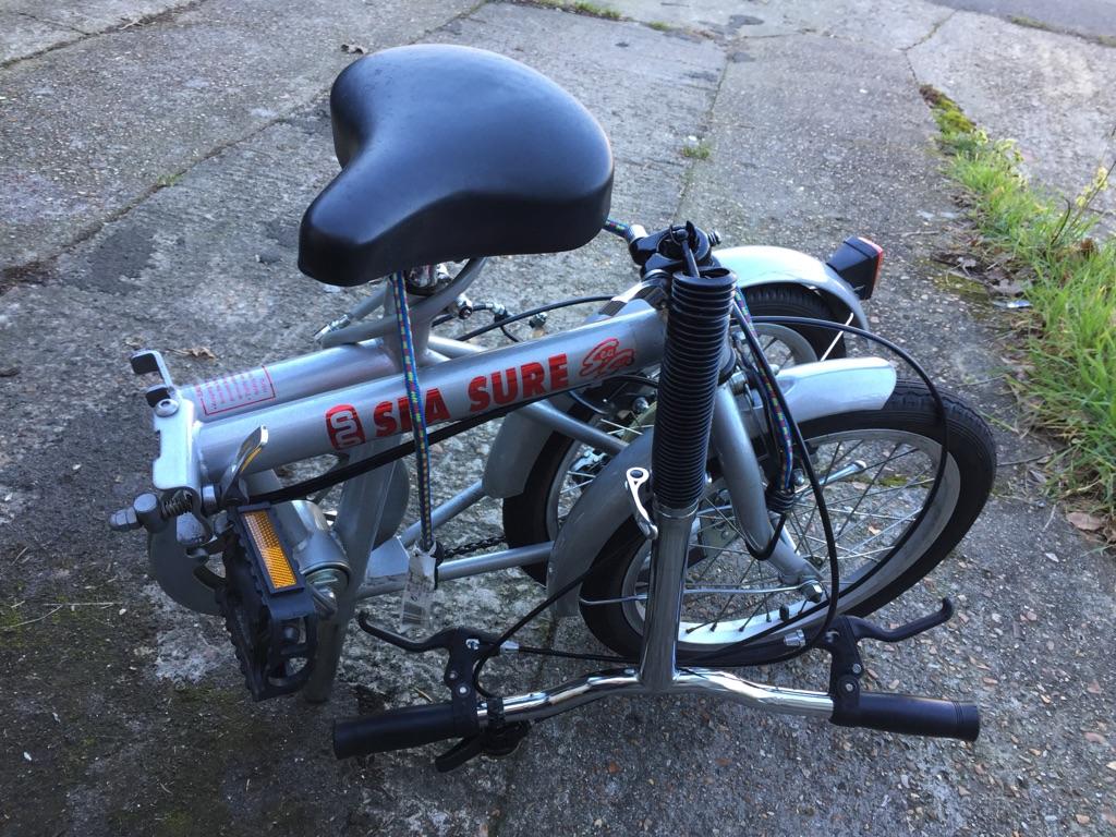 Sea Sure folding bike.