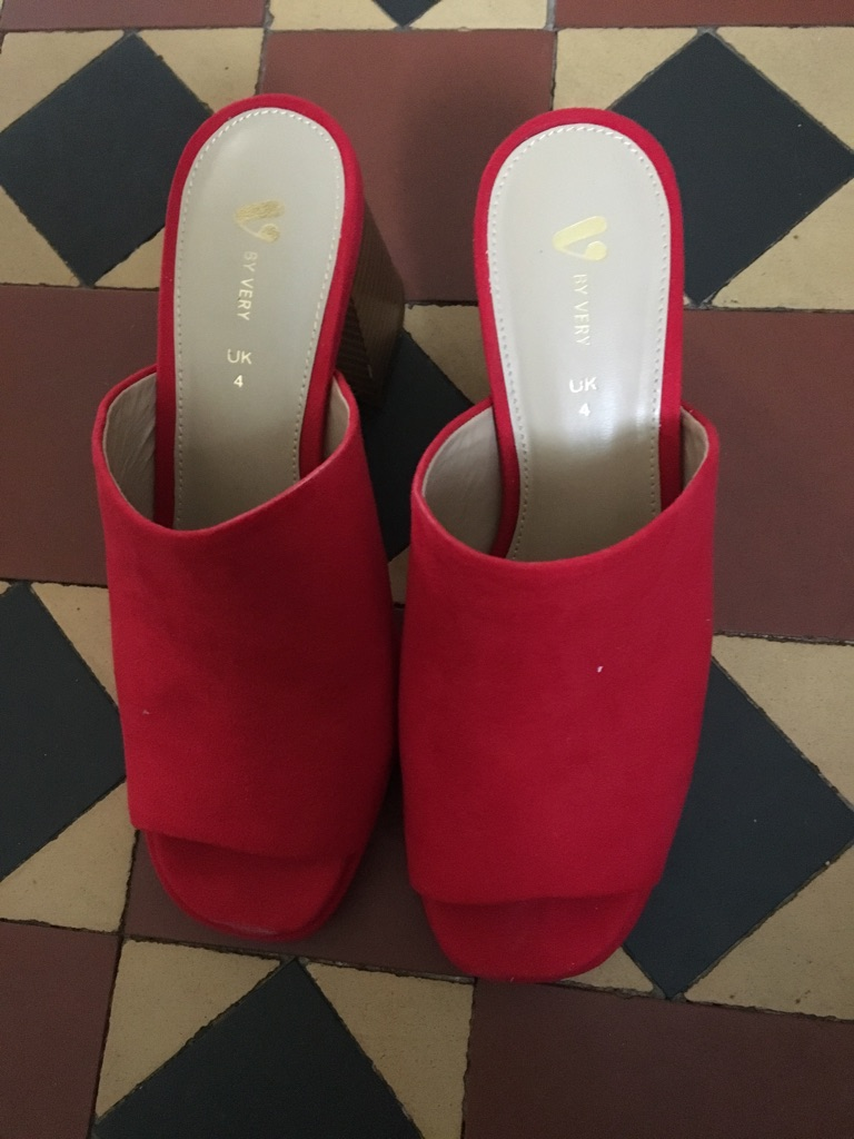 Women's Red Suede Shoes