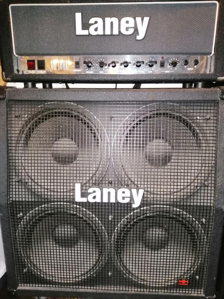 Laney GH100L + 4x12 Laney HH speaker loaded