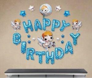 Little Angels Happy Birthday Balloons Set