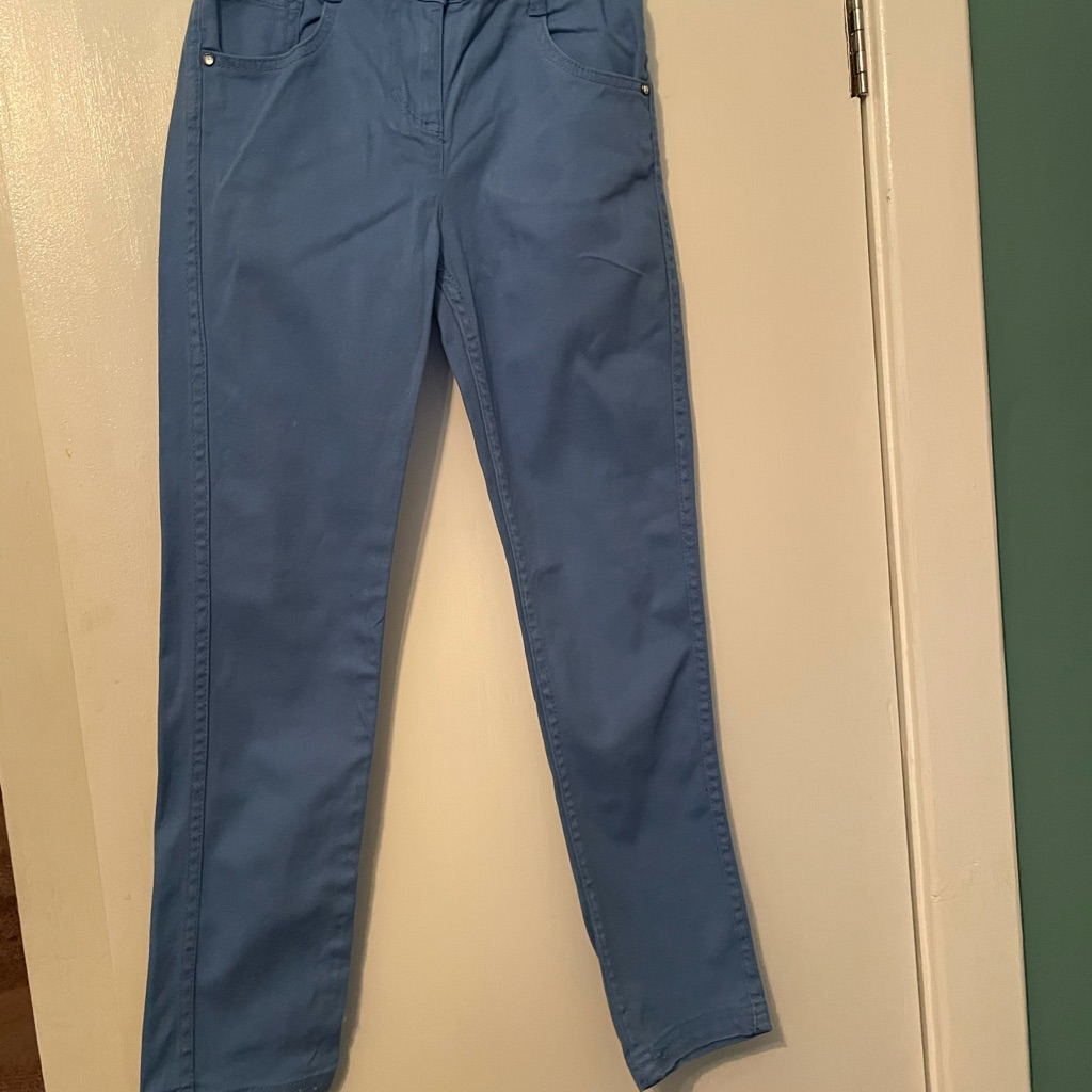 Girls Blue Summer pants age 9-10