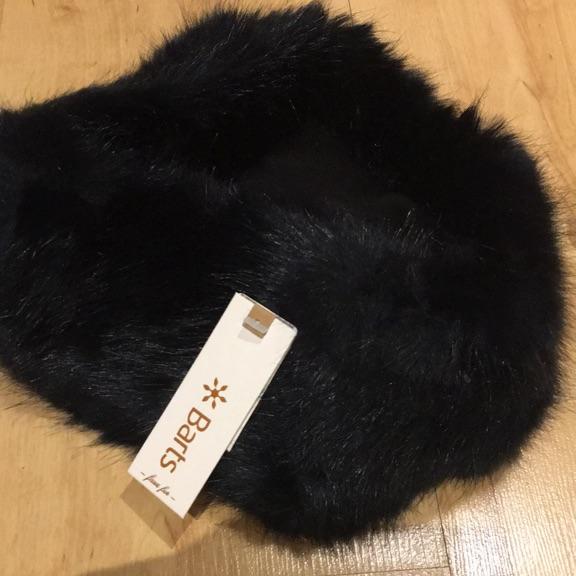Navy Faux fur headband