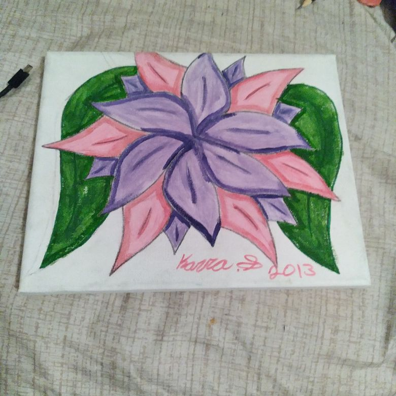 Painted flower