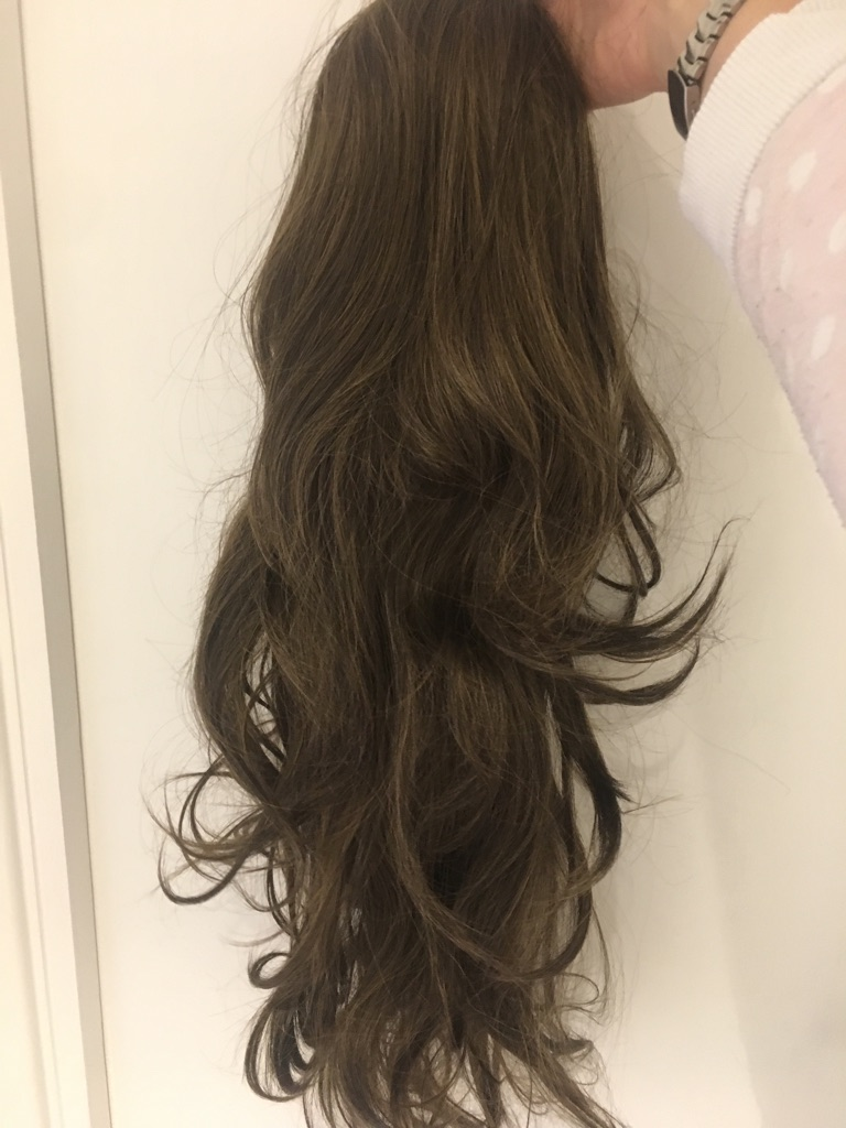 Brand new LullaBellz clip in hair piece extension