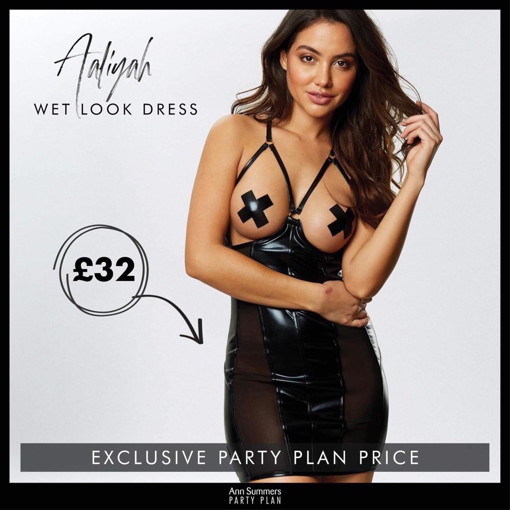 Aliyah wetlook dress black