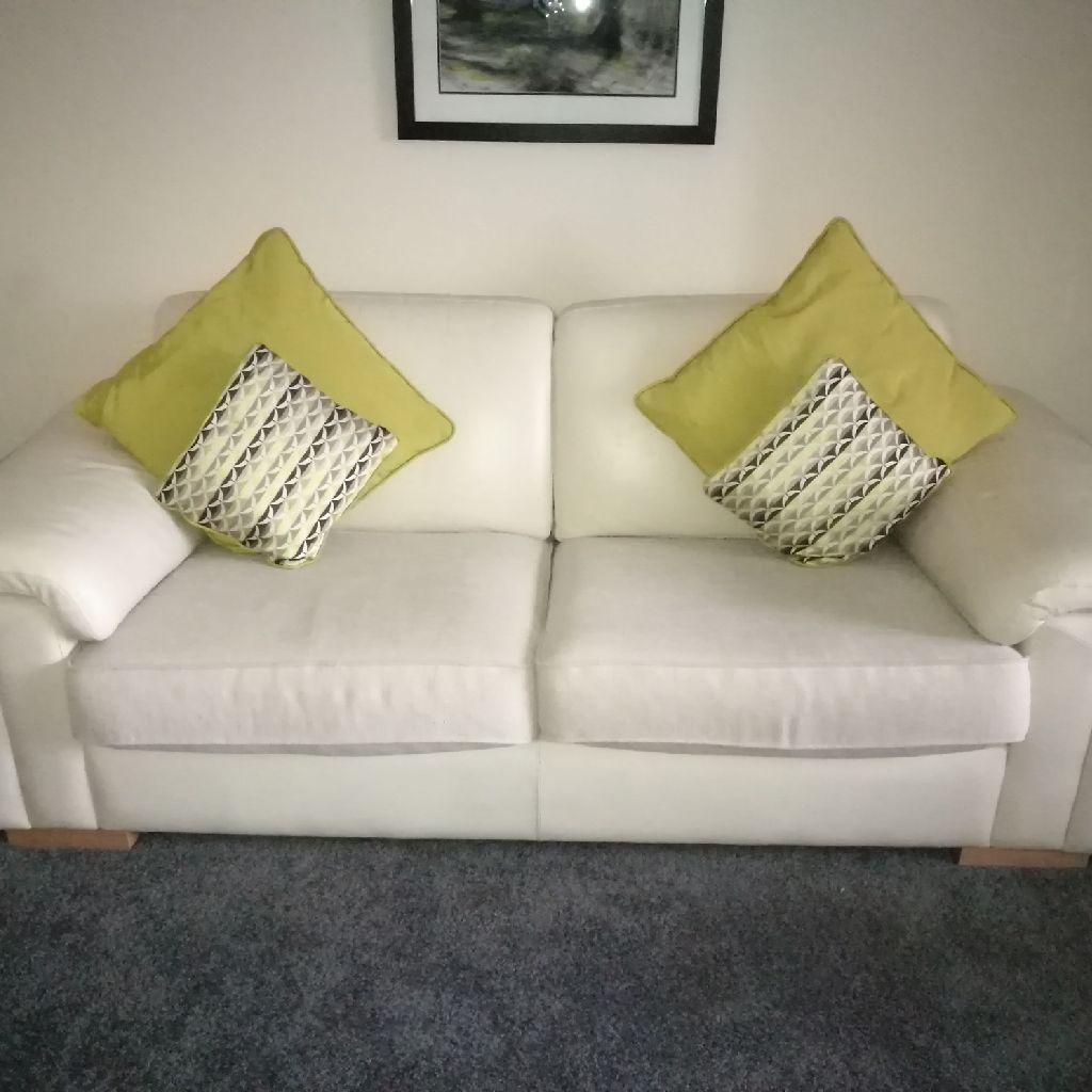 Cream learger sofas