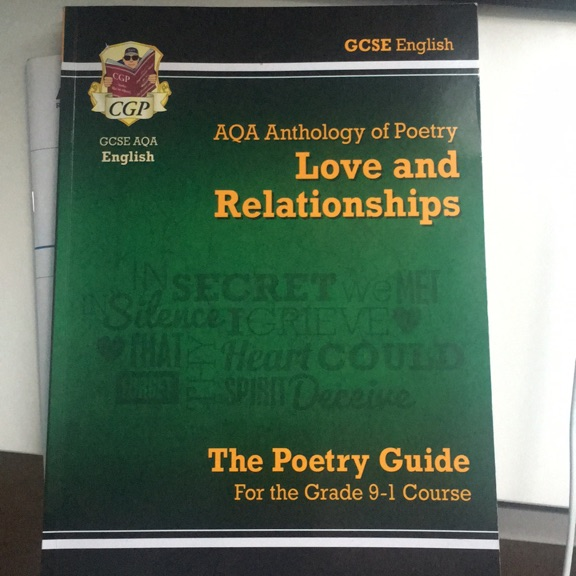 GCSE AQA Love & Relationships Anthology Poetry