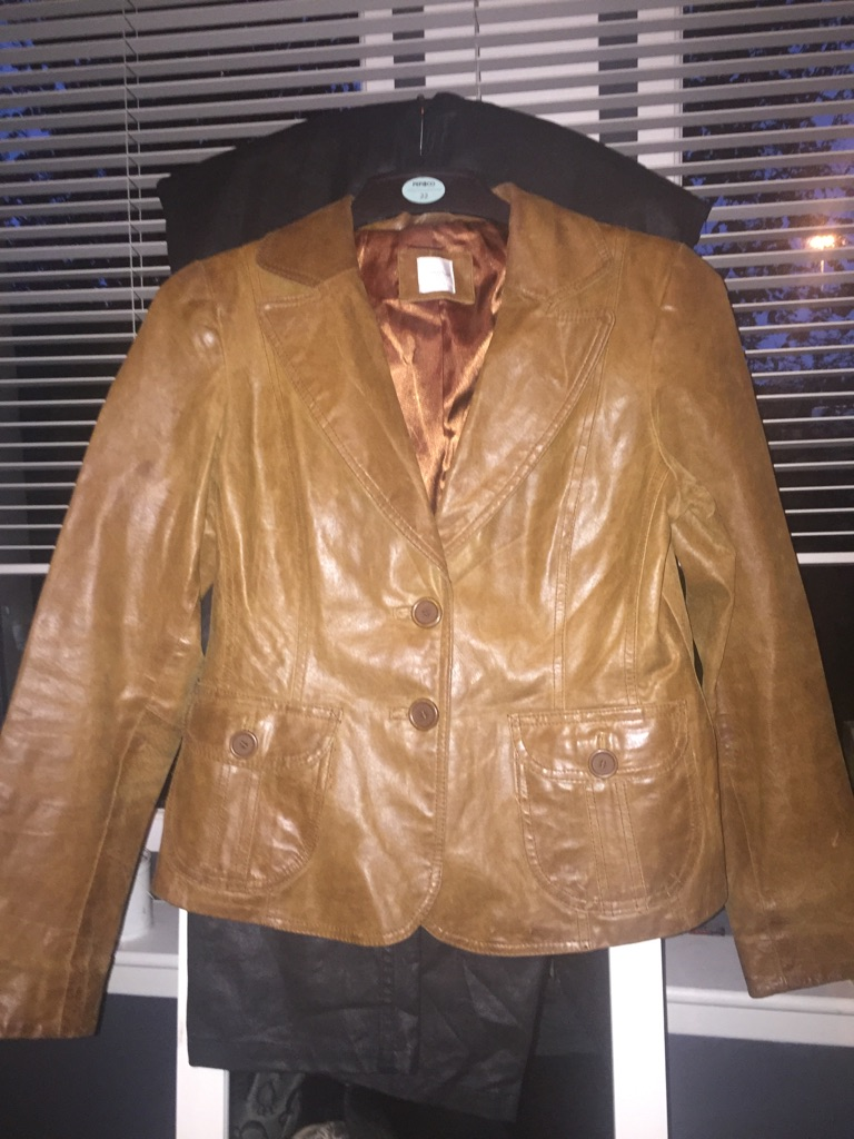 New Look Brown leather Dress Jacket
