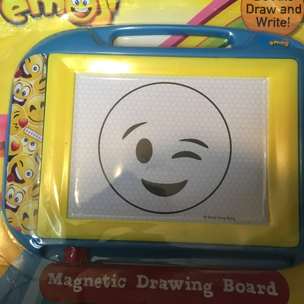 Brand new emoji magnetic drawing board