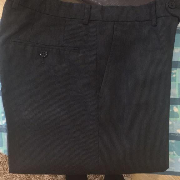 Black pinstripe trousers (32S)
