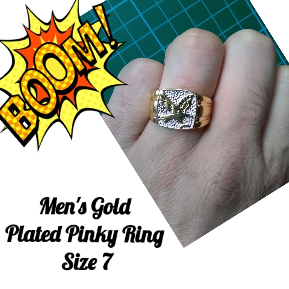 Men's Gold Pinky Ring