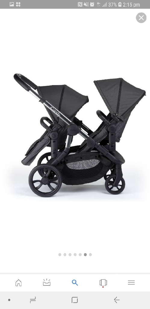 Icandy orange twin buggy