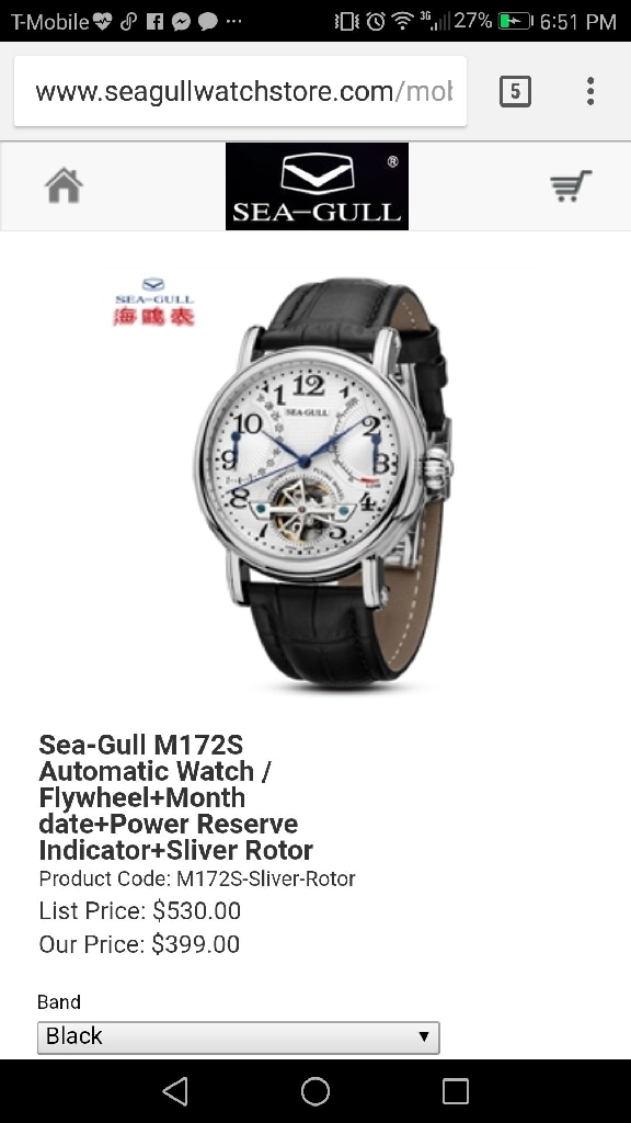 SEAGULL M172S LUXURY WATCH