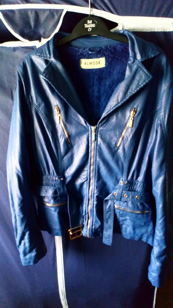 Leather looking jacket medium.