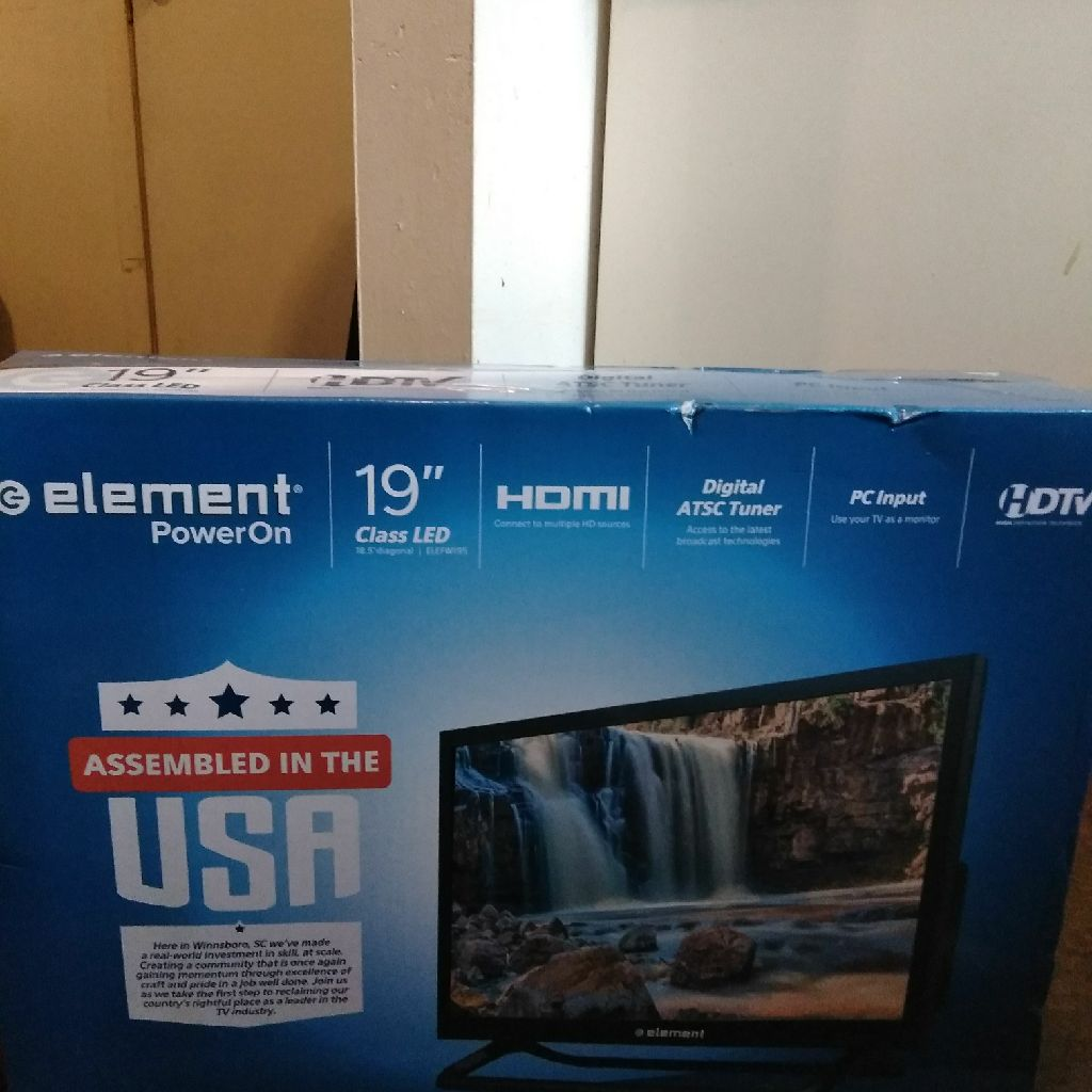 19 inch element hdtv flat screen
