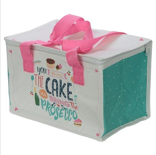 SALE NOW ON Prosecco slogan lunch box picnic cool bag