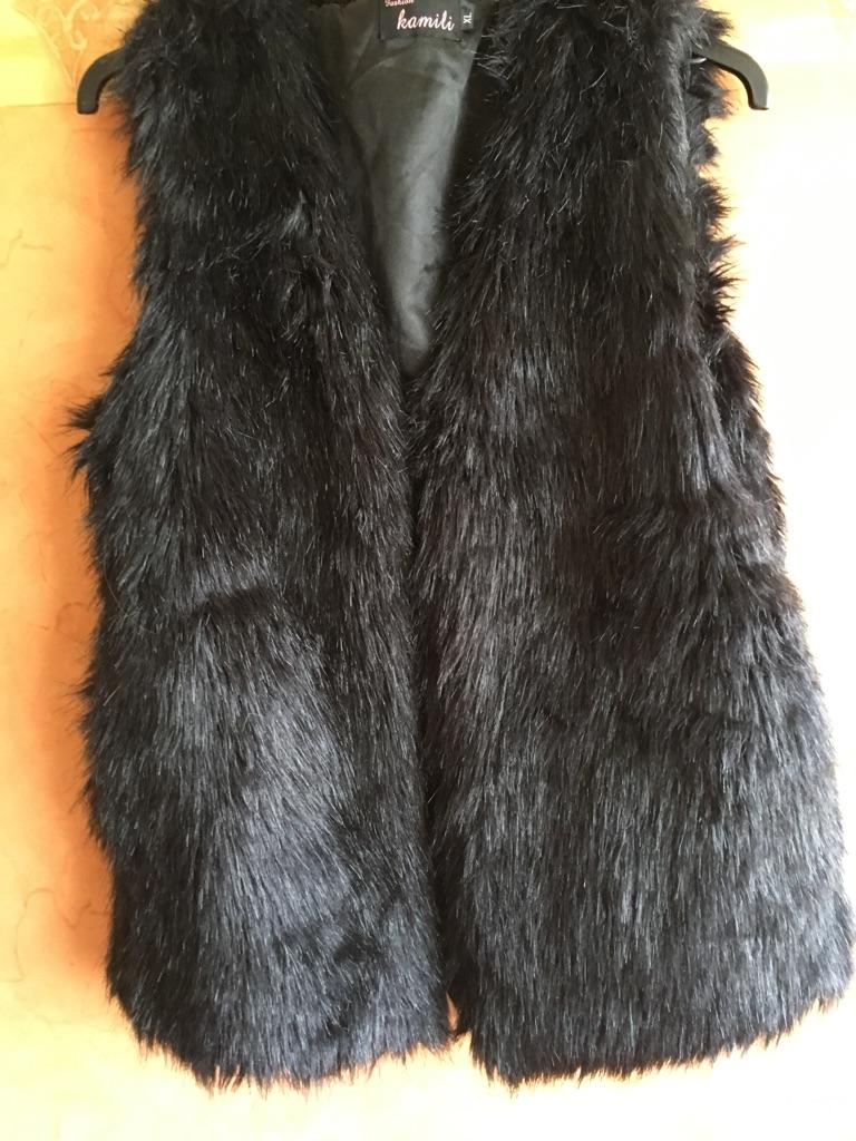 Fur faux gilet