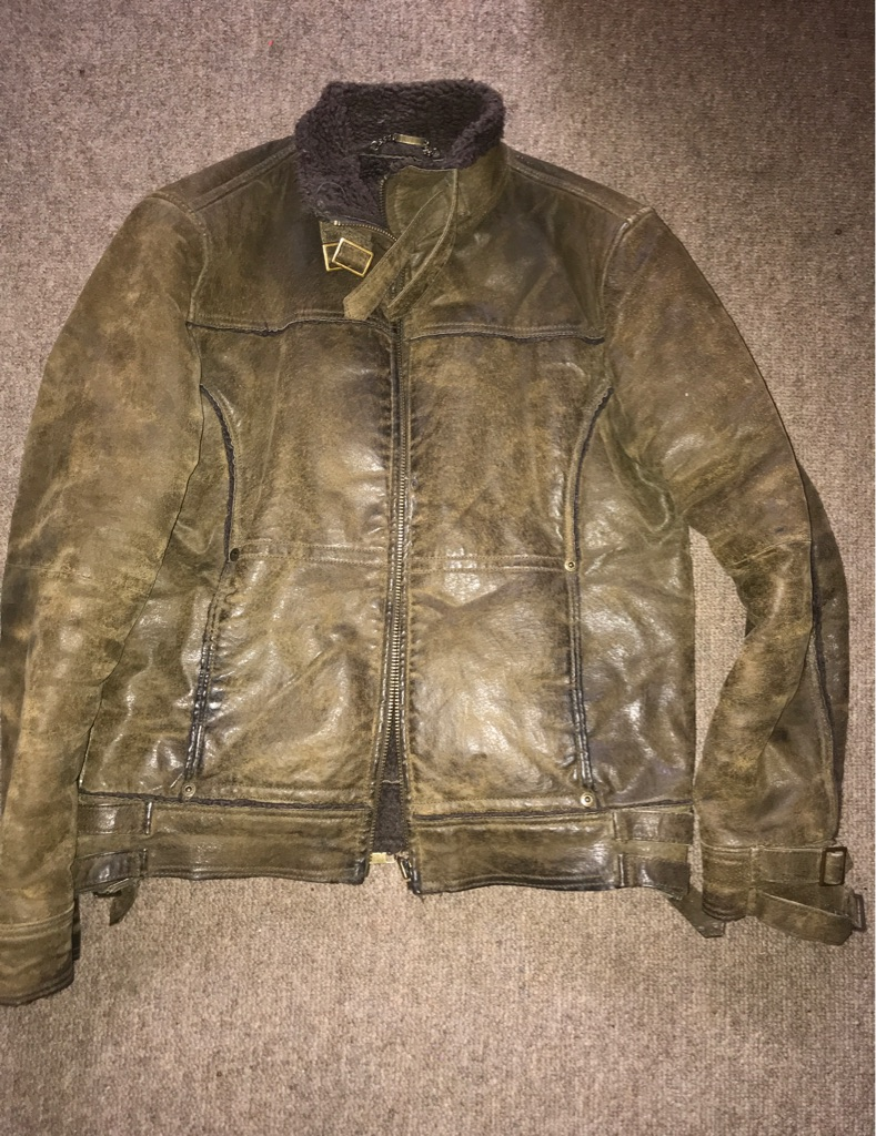 River island leather jacket (small)