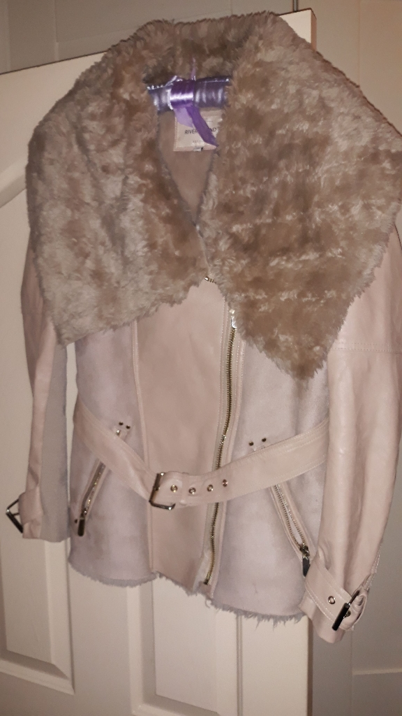 River island leather and suede jacket