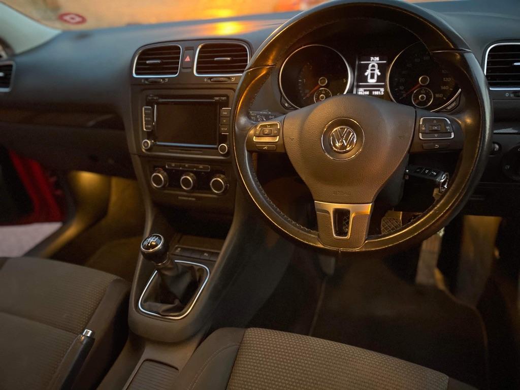 VW Golf Tdi Red Hatchback