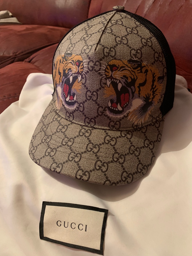 Authentic Gucci tiger hat size large