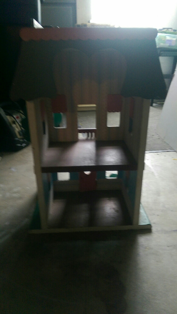 Real wood dollhouse
