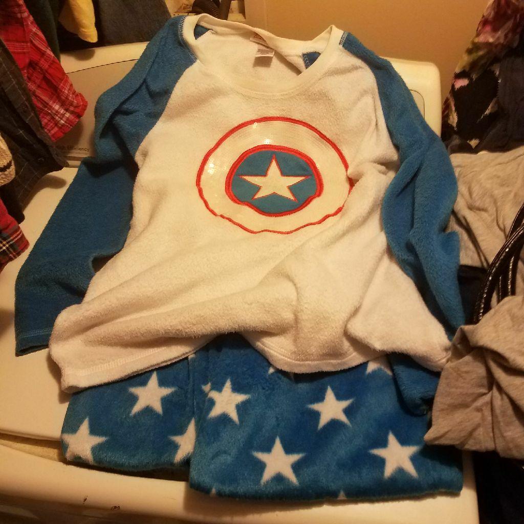 captain America pjs  size large