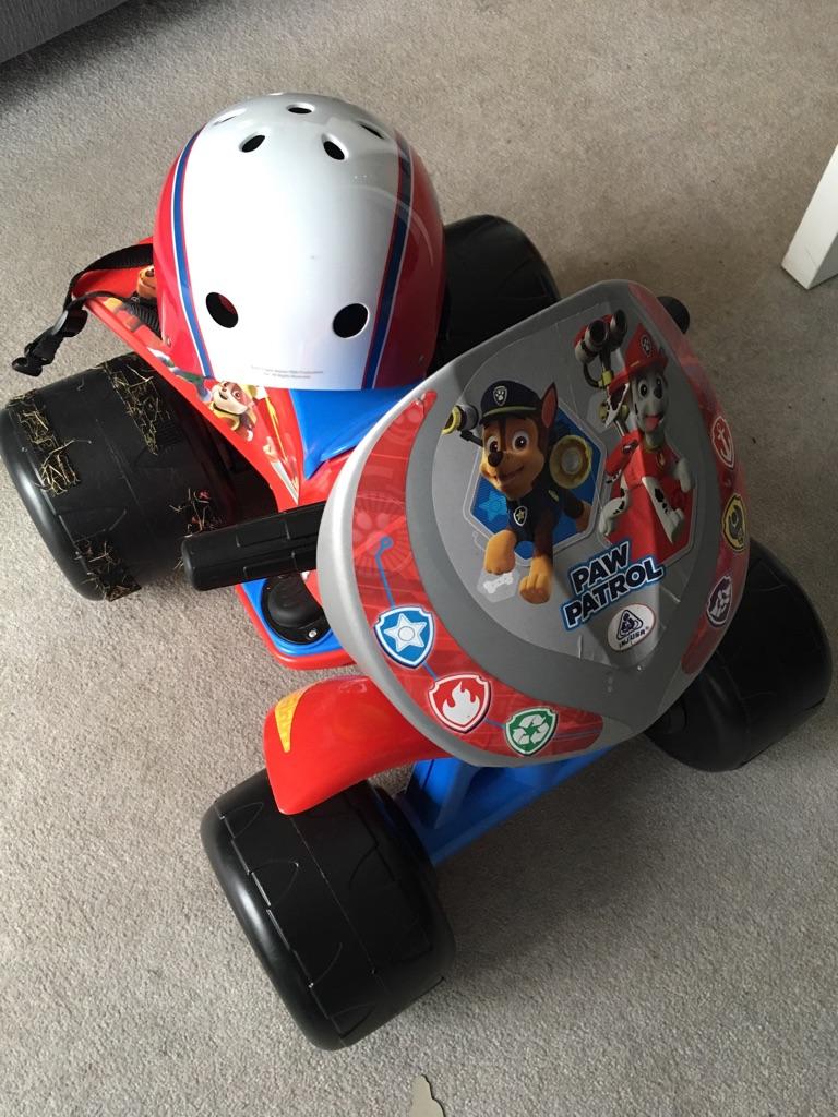 Paw patrol ATV and helmet