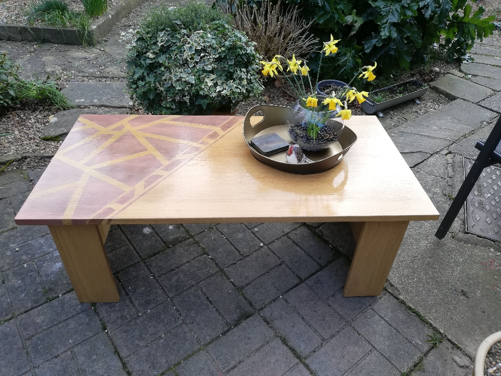 Unique refurbished Oak coffee table