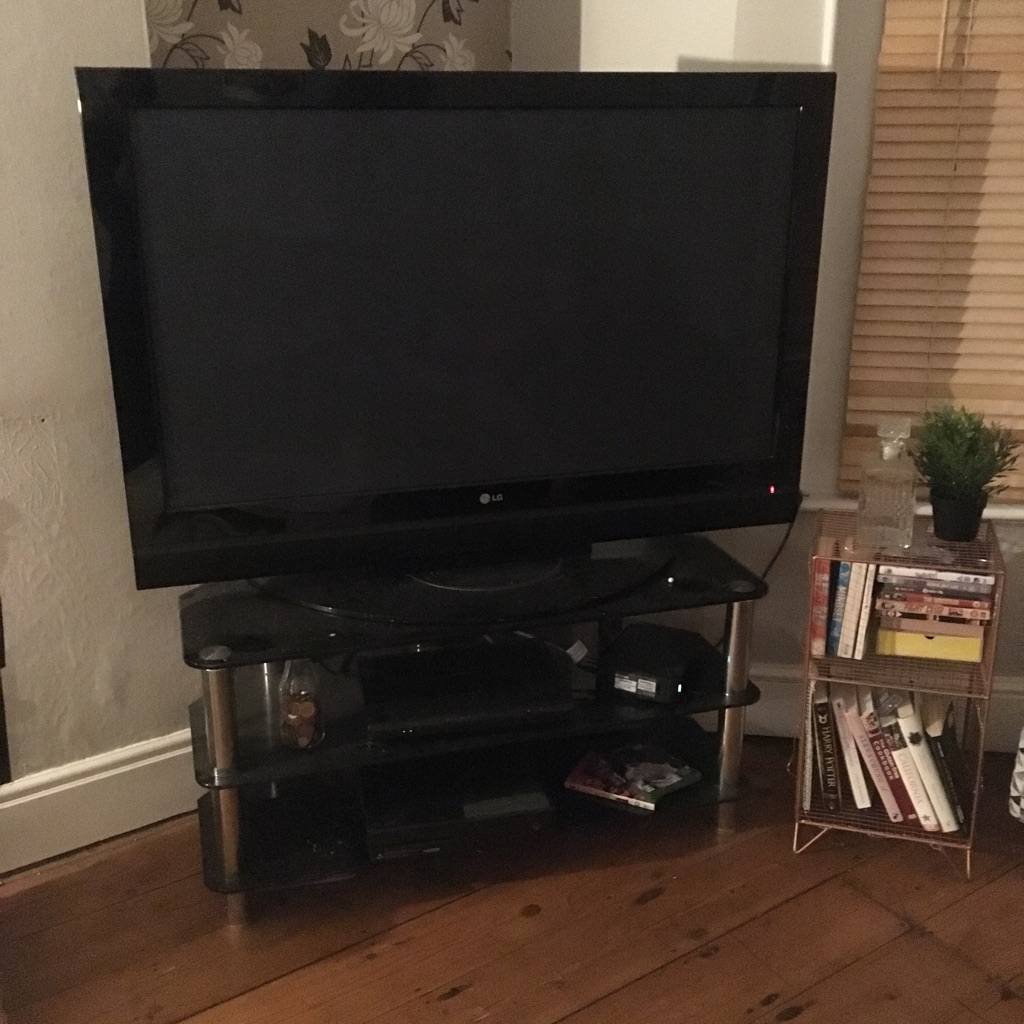 LG 50-inch TV and stand