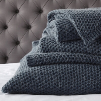 Bed throw and 2 cushion covers from The White Company