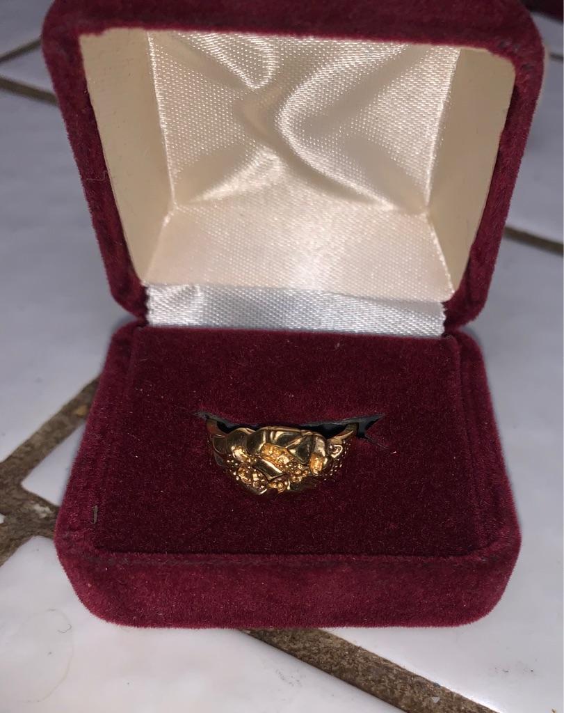 Size 6 Vintage Gold Nugget Ring