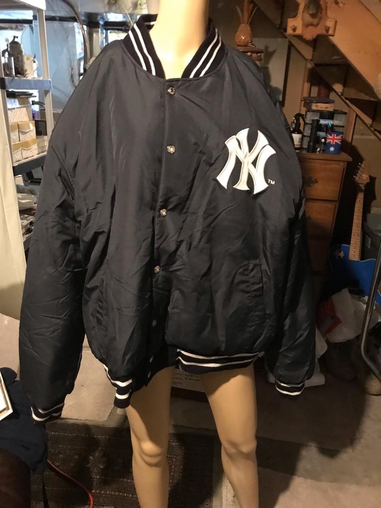 Yankees Reversible Wool/Leather Bomber Jacket
