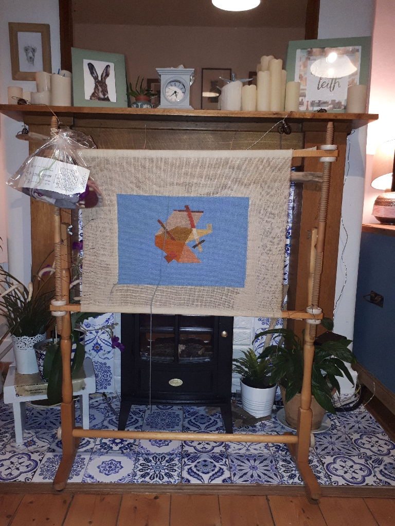 Cross stitch tapestry frame with accessories