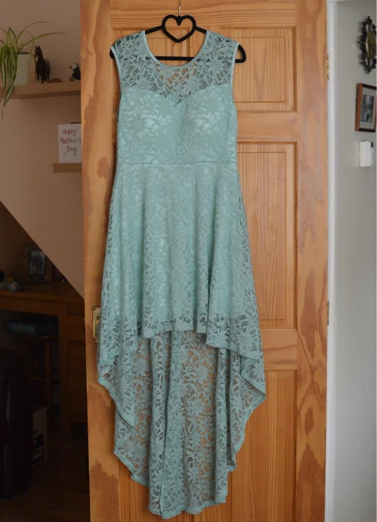 Size 14 Mint Green Prom Dress