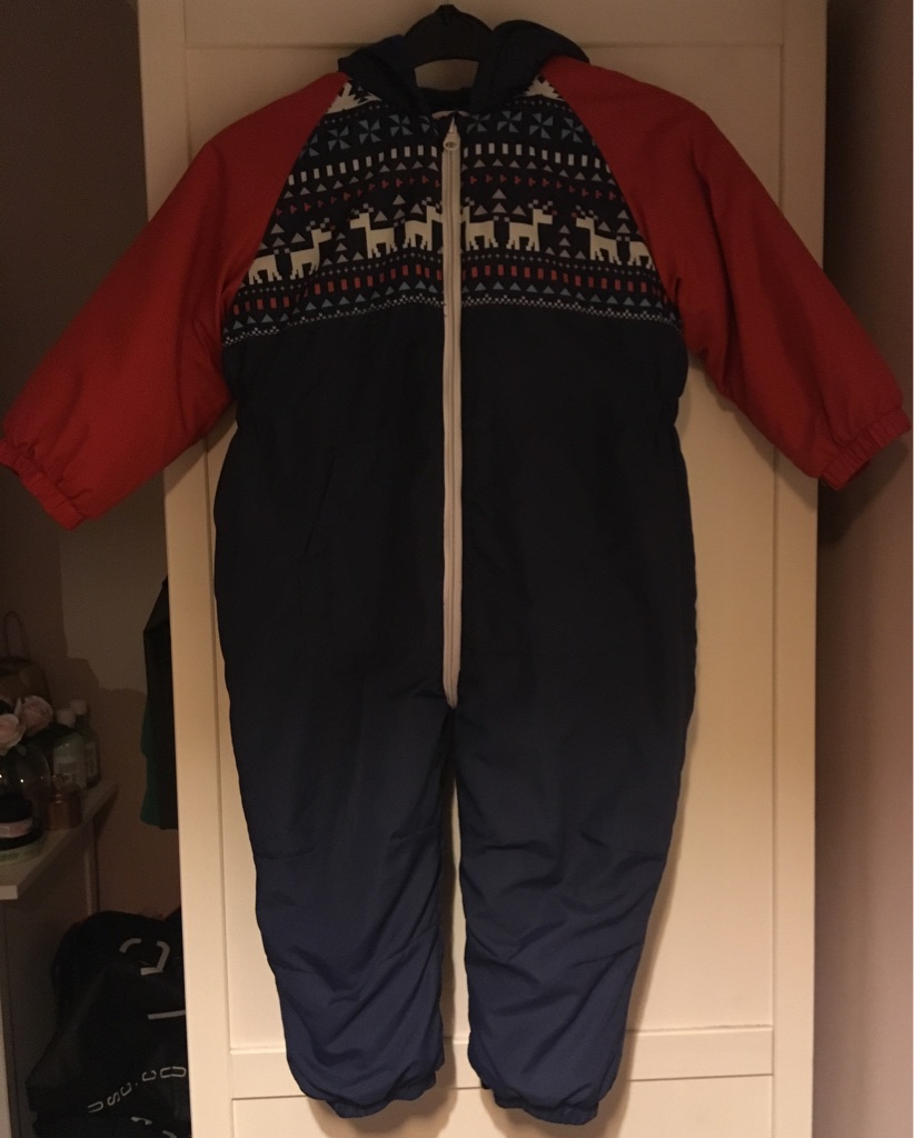 Boys snowsuit age 2-3