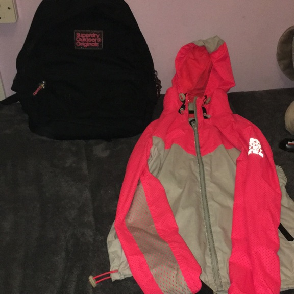 Superdry bag and coat
