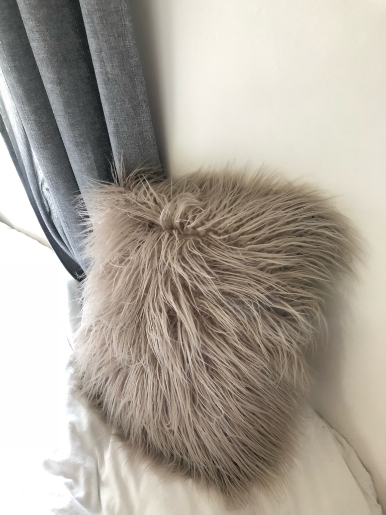 Matalan faux Mongolian fur cushion