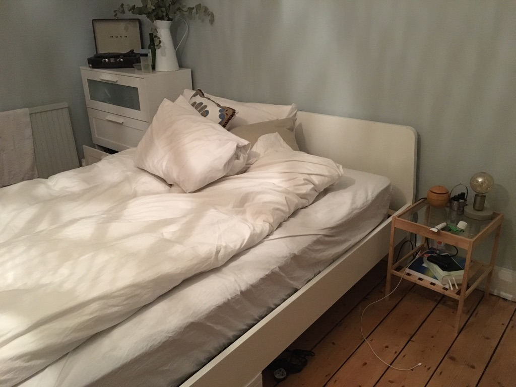 King size bed frame + free mattress