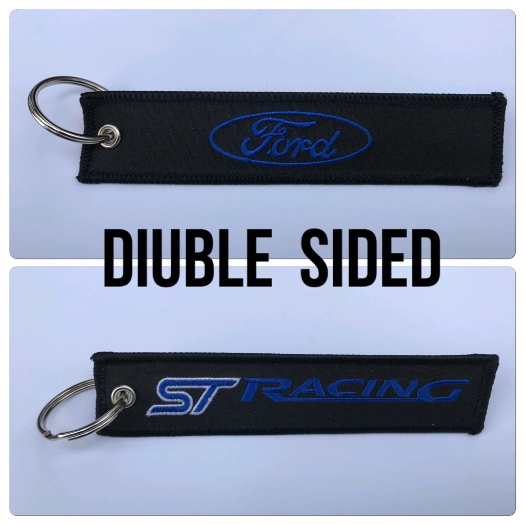 Embroidered Key Ring Keyring Keyfob Gift Ford Focus Fiesta ST