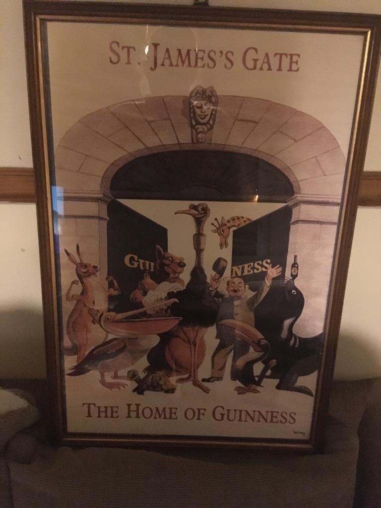 Guinness St James Gate framed Print Signed