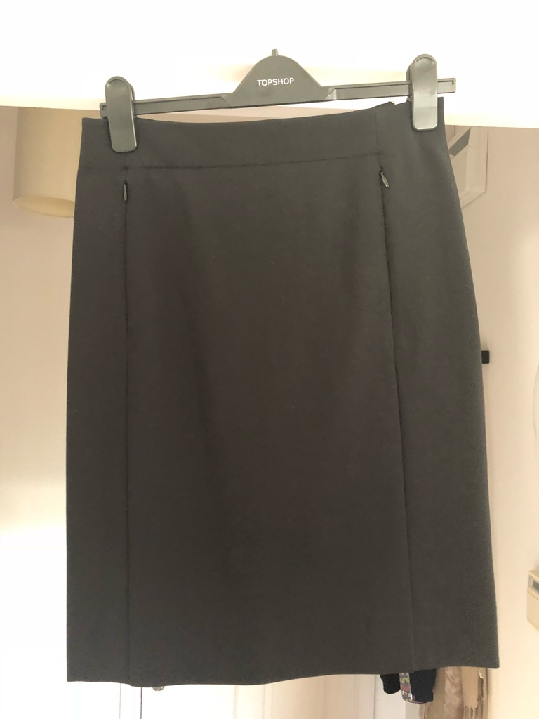 Diane Von Furstenburg Black pencil skirt size 12