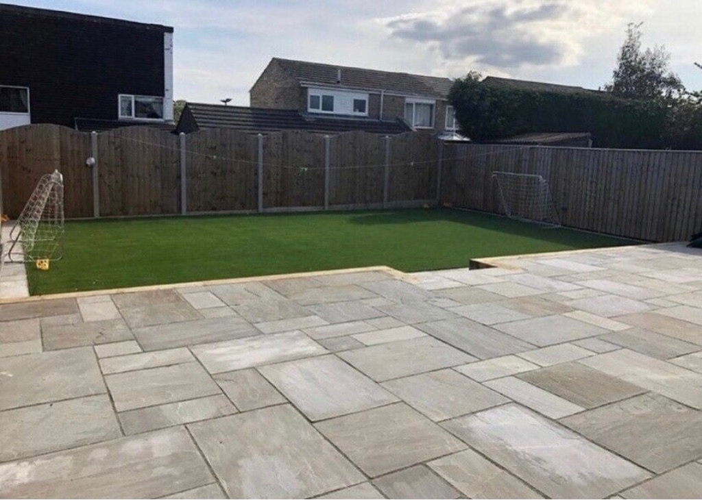 Garden with experience paving fencing turfing driveways decking brick work artificial grass