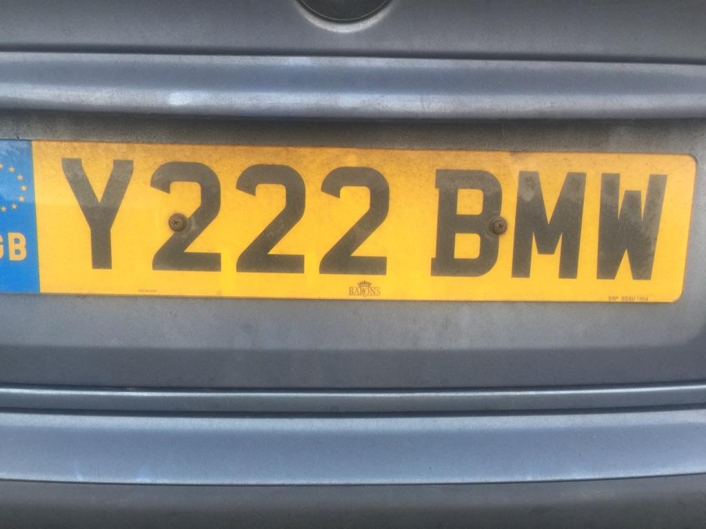 Private BMW car reg