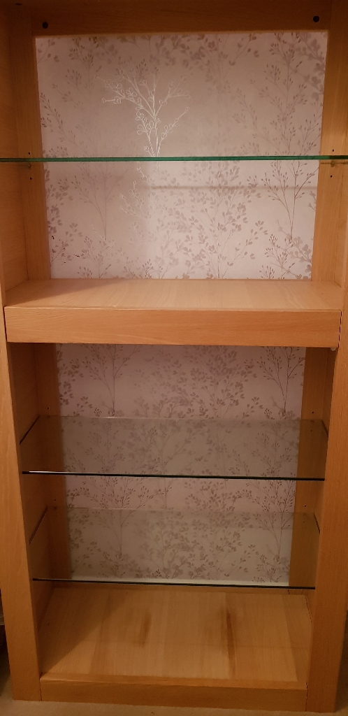 light oak shelf unit