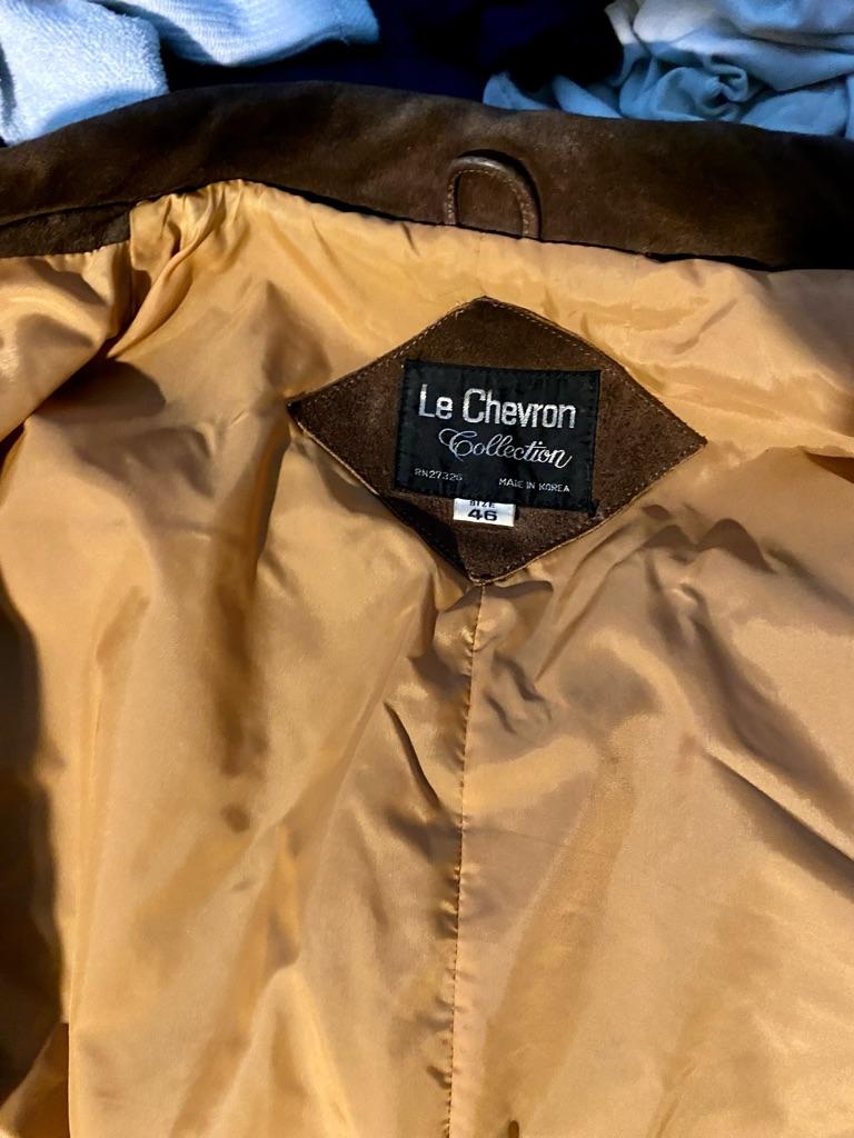 Le chevron suede jacket