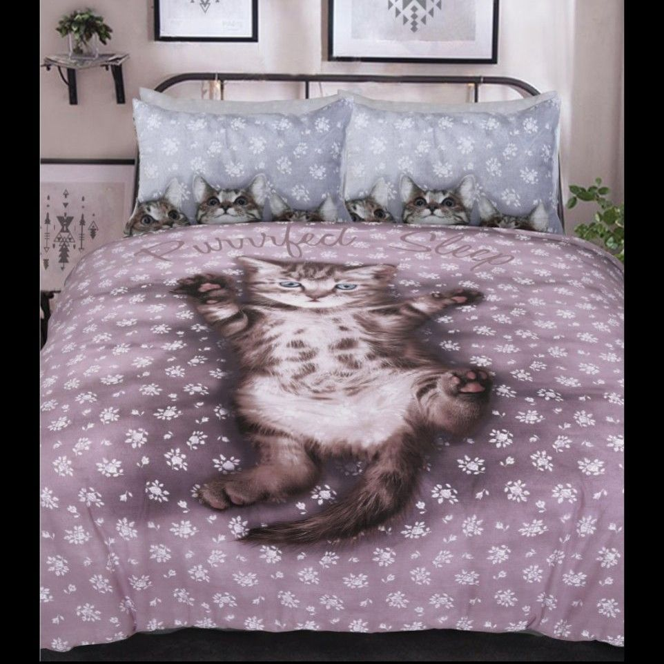 Cute kitten bedding