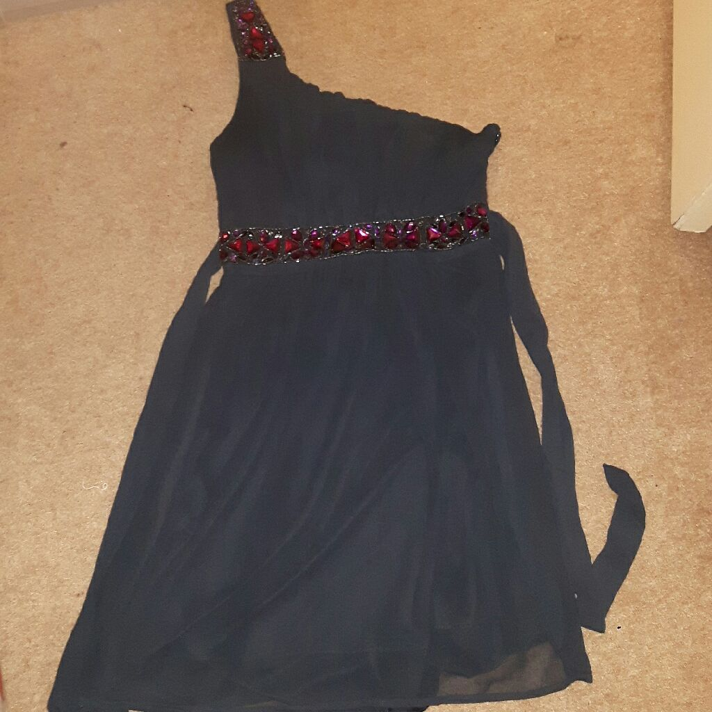 Blue asymmetrical dress